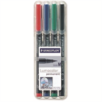 Staedtler Lumocolor 317 WP4 permanent marker Black,Blue,Green,Red 4 pc(s)