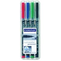 Staedtler Lumocolor 317 WP4 permanent marker Black,Blue,Green,Red 4 pc(s)