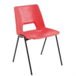 Jemini Polypropylene Stacking Chair Red KF74961