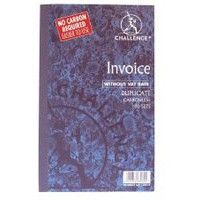 Challenge Duplicate Book Carbonless Invoice without VAT/tax 100 Sets 210x130mm Ref 100080526 [Pack 5