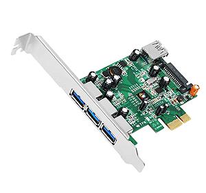 Dual Profile Pci-e 4-port USB 3.0 Host Adapter
