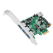 Siig DP 4-Port USB 3.0 PCIe interface cards/adapter Internal