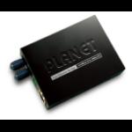 PLANET 10/100Base-TX to 100Base-FX network media converter 100 Mbit/s 1310 nm Multi-mode Black
