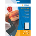 HERMA Fotophan transparent photo pockets 20x30 cm portrait black 10 pcs.