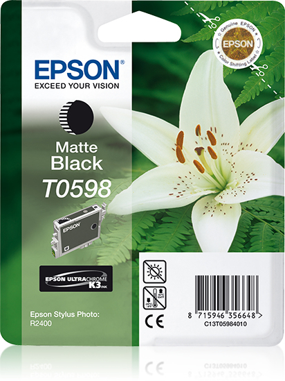 Epson Lily inktpatroon Matte Black T0598 Ultra Chrome K3