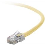"Belkin Cat5e, 4ft, 1 x RJ-45, 1 x RJ-45, Yellow networking cable 47.2"" (1.2 m)"
