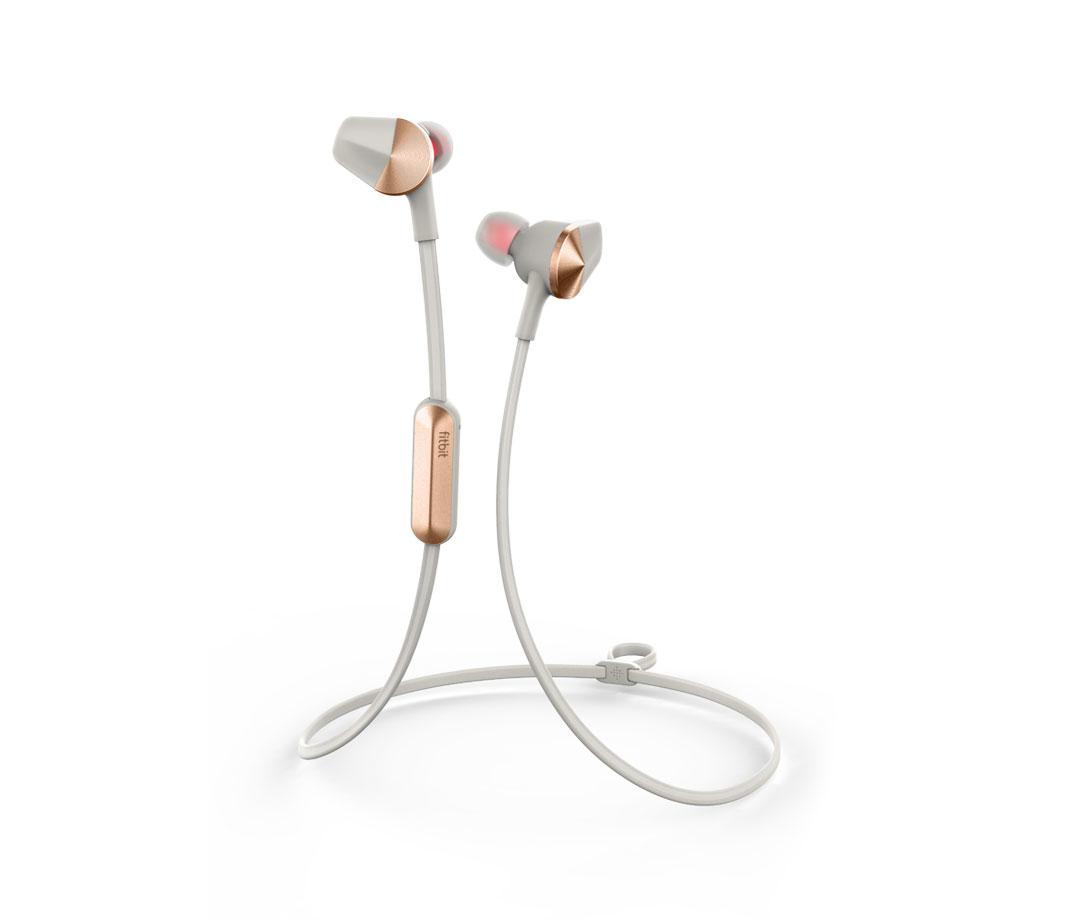 Fitbit Flyer mobile headset Binaural In-ear Gold,Grey