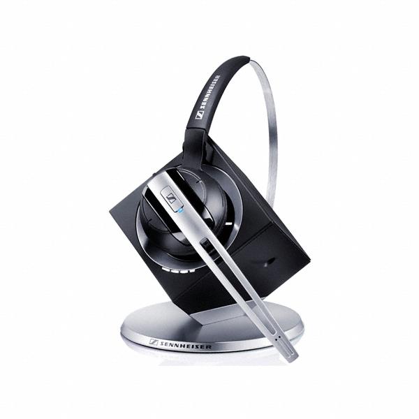 Sennheiser DW Office PHONE Headset Ear-hook,Head-band Black,Brushed steel