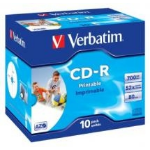 Verbatim CD-R InkJet 700 MB 10 pc(s)