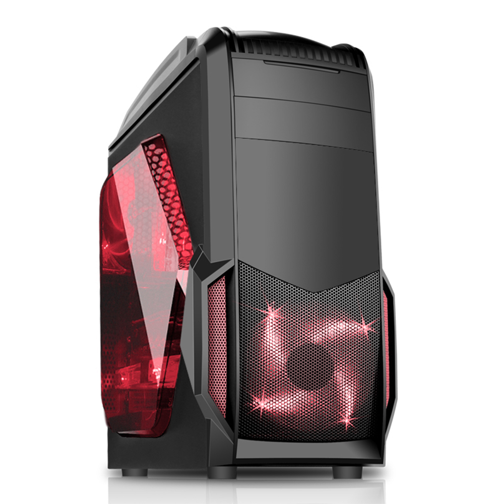 CIT PC Sand Storm Gaming PC Case Red LED Fans