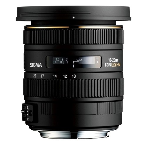 Sigma 10-20mm F3.5 EX DC HSM SLR Wide lens Black