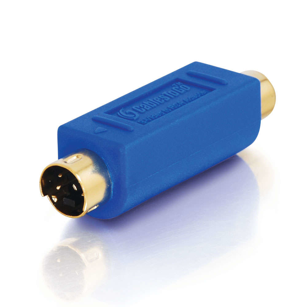C2G Bi-Directional S-Video Male/ RCA Female Video Adapter Azul