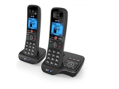 British Telecom BT 6600 Nuisance Call Blocker Twin DECT telephone Caller ID Black, Silver