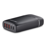 Wavlink USB3.0 with Dual Type-C 5 ports 45W Rugged Smart USB Charger  (LS)