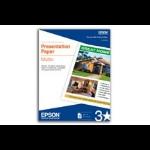 "Epson Presentation Paper Matte - 8.5"" x 11"" - 100 Sheets printing paper"