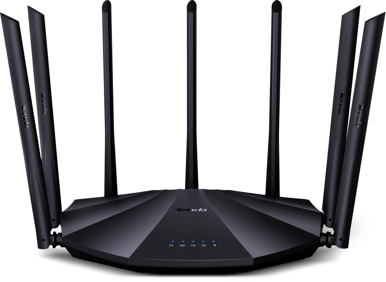 Tenda AC23 router inalámbrico Doble banda (2,4 GHz / 5 GHz) Gigabit Ethernet Negro