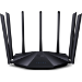 Tenda AC23 router inalámbrico Doble banda (2,4 GHz / 5 GHz) Gigabit Ethernet Negro