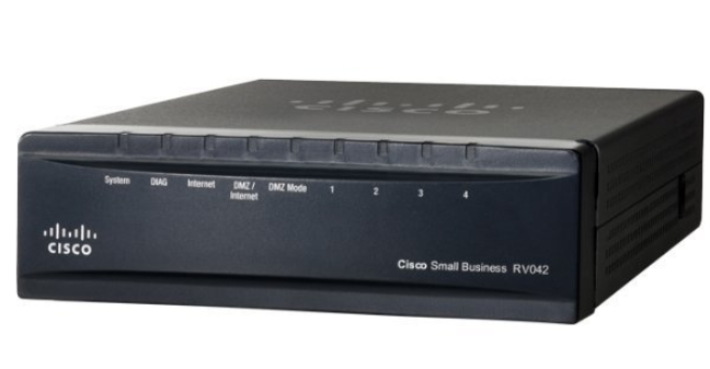 Cisco RV042 bedrade router Fast Ethernet Zwart, Zilver