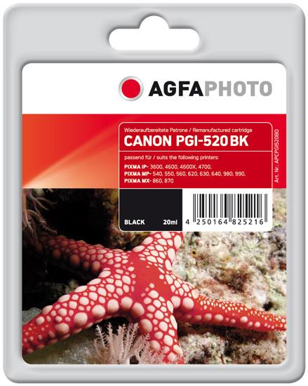 Compatible Inkjet Cartridge - Pgi-520bk / 2932b001 - 360 Pages - Black