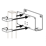 "Ergotron Attachment Options 3"" x 3"" Post Peripheral Bracket."