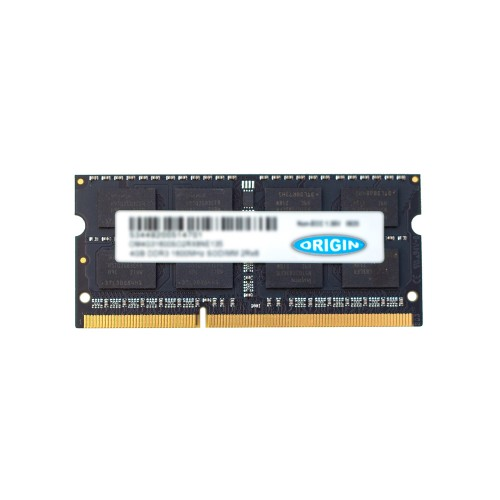 Origin Storage 4GB DDR3 1333MHz SODIMM 2Rx8 Non-ECC 1.5V (Ships as 1.35V) (Ships as 1600mHz)