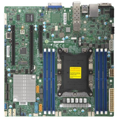 Supermicro X11SPM-TPF Intel C622 LGA 3647 (Socket P) Micro ATX server/workstation motherboard