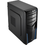 Aerocool V2X Blue Edition Midi-Tower Black,Blue computer case