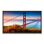 NEC MultiSync X552S 55 Inch NEC LCD Public Display, LED Backlight, Full HD, 1920 x 1080, 16:9, 4000:1, Black Bezel, 2 x 5W Built-In Speakers