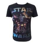 STAR WARS Adult Male Darth Vader All-Over T-Shirt, Extra Small, Black (TS090700STW-XS)