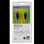 Belkin HDMI 1.4 1.5m HDMI cable HDMI Type A (Standard) Black