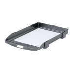 Rexel Agenda Letter Tray with Non-Slip Feet Charcoal (35 Sheet Capacity)
