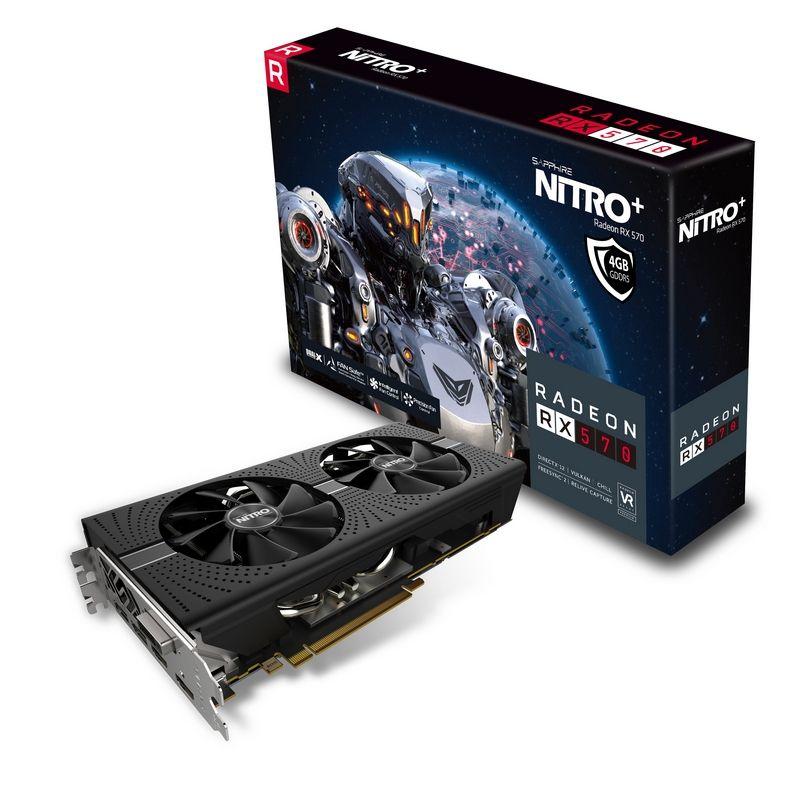 Sapphire RADEON RX 570 4GB GDDR5 NITRO+ Radeon RX 570 4GB GDDR5