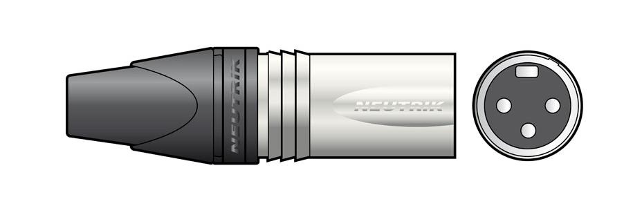 Qtx 761.569UK wire connector 3-pole XLR Black,Silver
