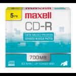Maxell 648205 CD-R 700MB 5pcs blank CD