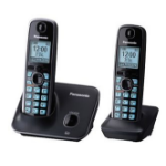 Panasonic KX-TG4112ME DECT Identificador de llamadas Negro