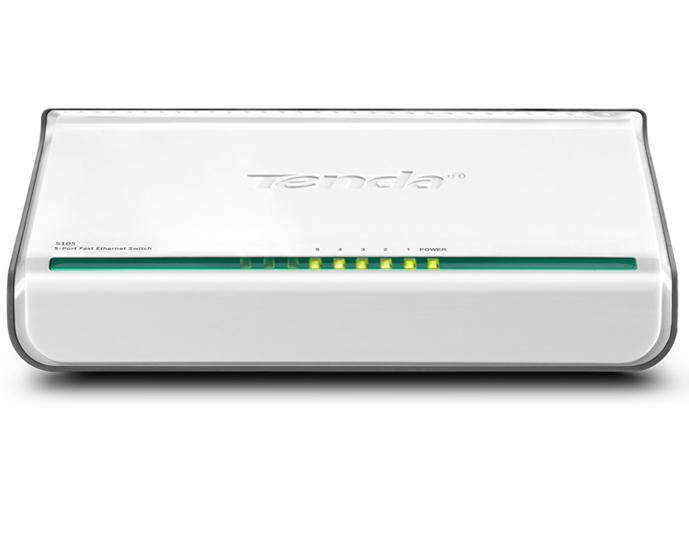 Tenda 5-Port Fast Ethernet Switch Unmanaged White