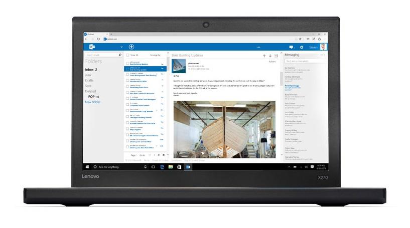 "Lenovo ThinkPad X270 2.3GHz i5-6200U 12.5"" 1920 x 1080pixels Black Notebook"