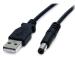 StarTech.com Cable de 91cm de alimentación USB A a M de Tipo Barril de 5,5mm