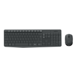Logitech MK235 Tastatur RF Wireless QWERTZ Deutsch Grau