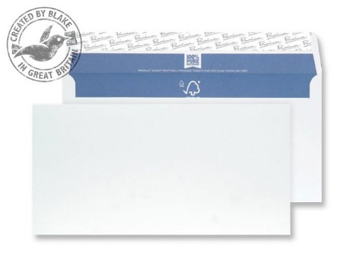 Blake Premium Pure Wallet Peel and Seal Super White Wove DL 110x220mm 120gsm (Pack 500)