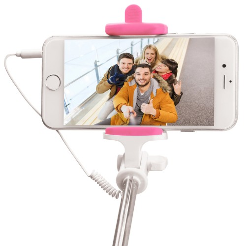 PNY P-S-WSS001P-RB selfie stick Smartphone Pink,White
