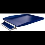 Leitz Letter Tray Silver Titan Blue