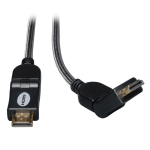 Tripp Lite High Speed HDMI Cable with Swivel Connectors, Ultra HD 4K x 2K, Digital Video with Audio (M/M), 0.91 m (3-ft.)