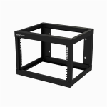 StarTech.com RK619WALLO rack cabinet 6U Wall mounted rack Black
