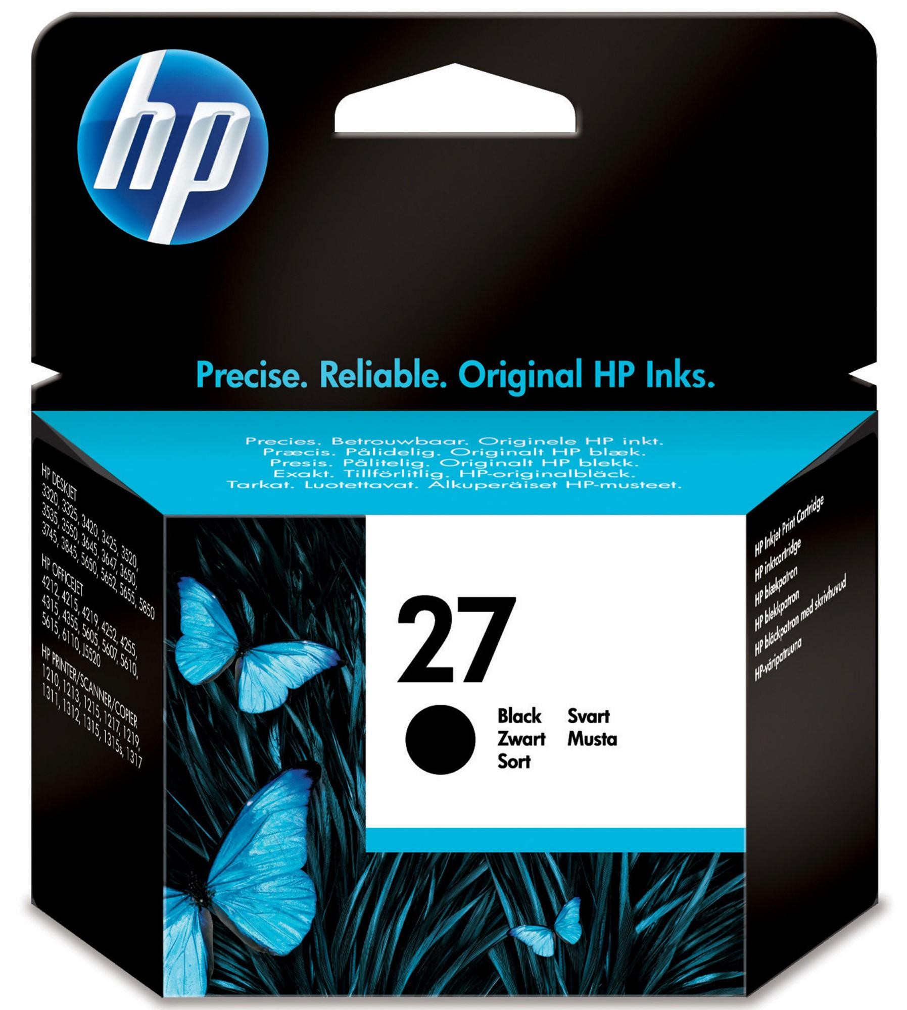 HP 27 Origineel Zwart 1 stuk(s)