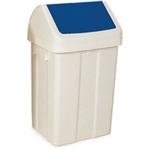 FSMISC 50 LITRE SWING BIN WHITE/BLUE 330350350
