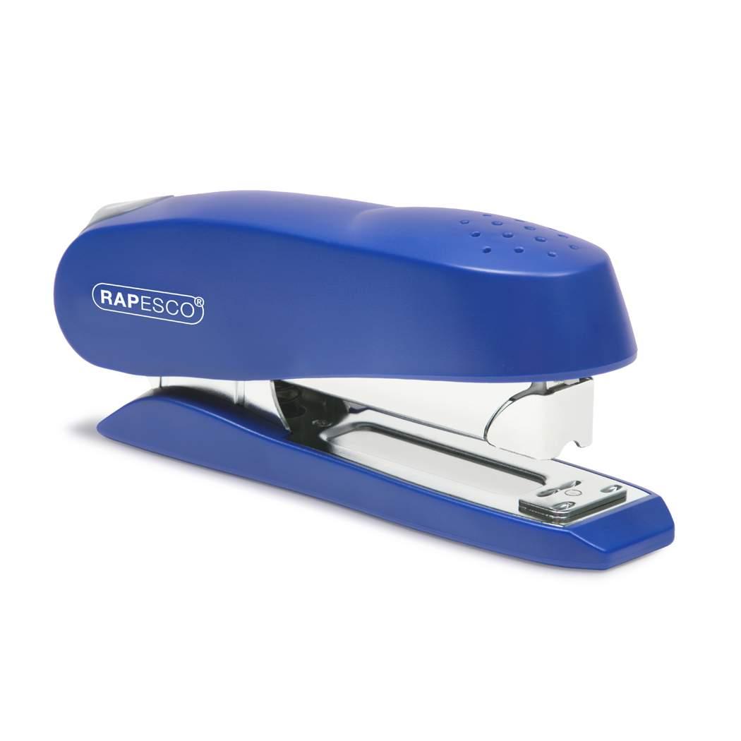 Rapesco Luna Half Strip Front Loading Stapler 20 Sheets Blue