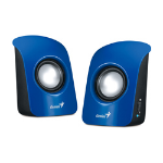 Genius SP-U115 loudspeaker 1-way 1 W Blue Wired