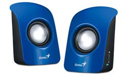 Genius SP-U115 loudspeaker 1-way 1 W Blue Wired