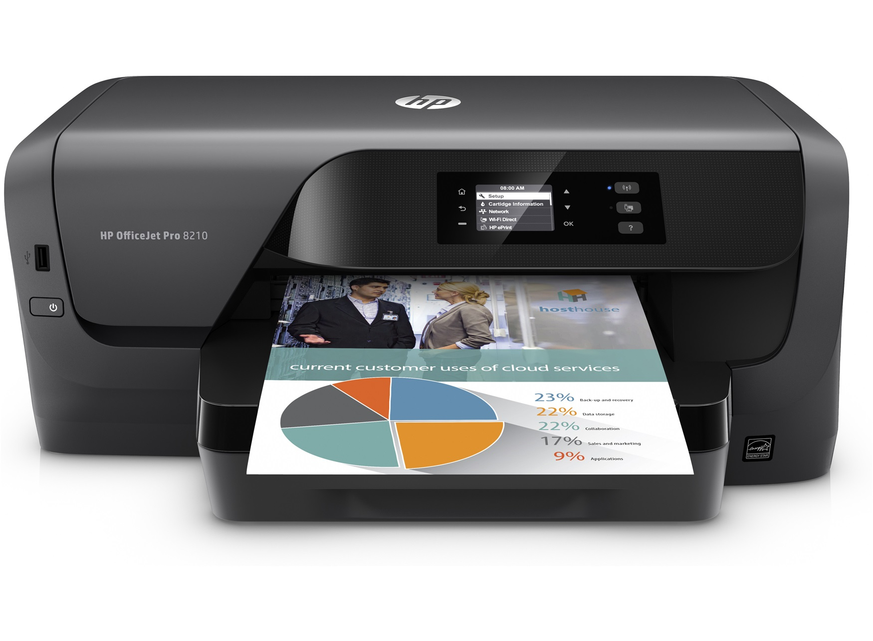 HP Officejet Pro 8210 Colour 2400 x 1200DPI A4 Wi-Fi Black